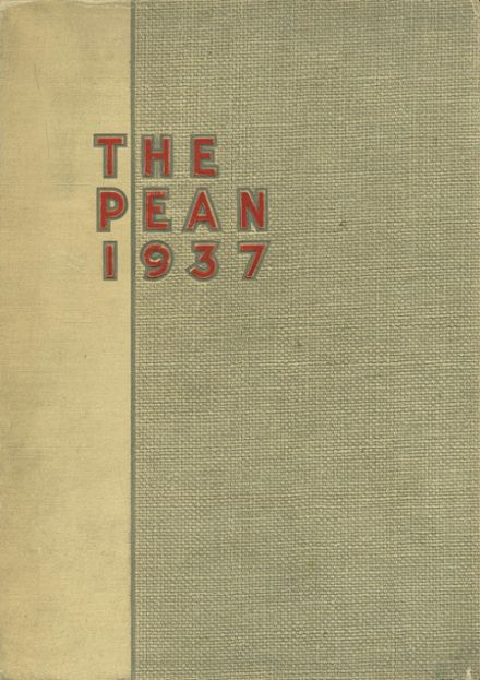 1937 Phillips Exeter Academy Yearbook Cover