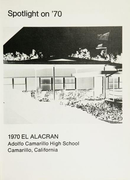 1970 Adolfo Camarillo High School Yearbook Page 5
