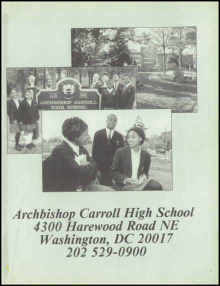 1999 Archbishop Carroll High School Yearbook Page 5