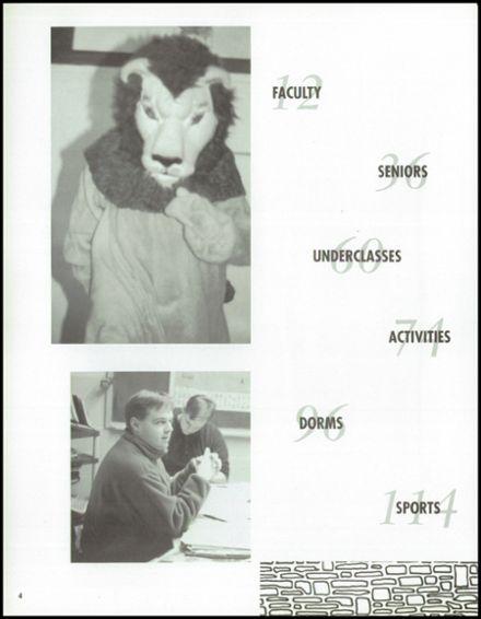 1996 Phelps High School Yearbook Page 8