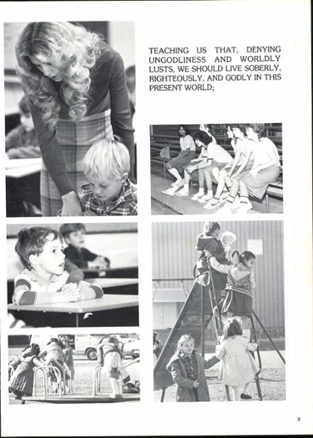 1982 Garland Christian Academy Yearbook Page 7