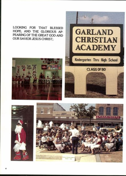 1982 Garland Christian Academy Yearbook Page 8