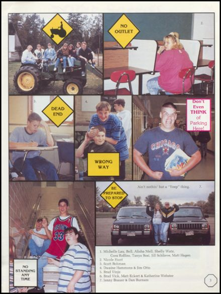 1996 Rhinelander High School Yearbook Page 7