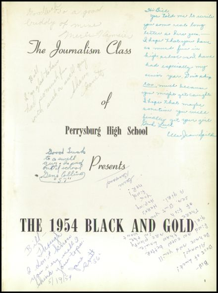 1954 Perrysburg High School Yearbook Page 5