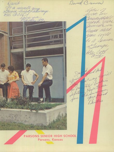 1963 Parsons High School Yearbook Page 3