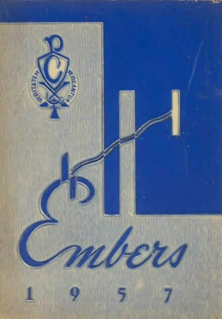 1957 Cotter High School Yearbook Cover