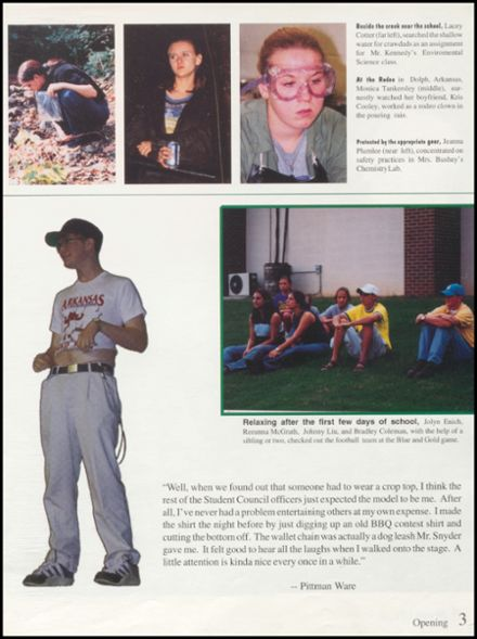 1999 Mountain Home High School Yearbook Page 7