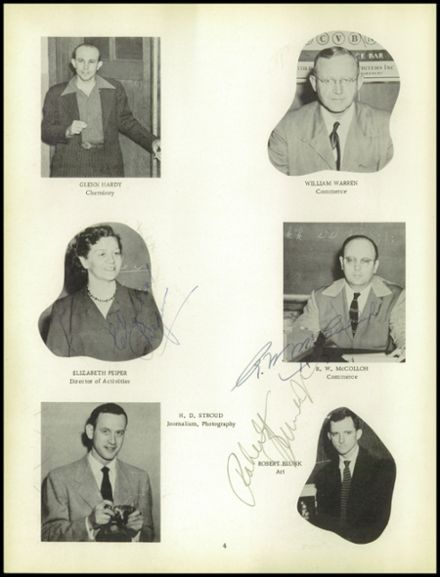 1952 Chanute High School Yearbook Page 8
