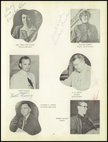 1952 Chanute High School Yearbook Page 9