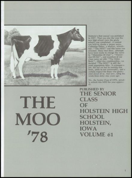 1978 Holstein High School Yearbook Page 5
