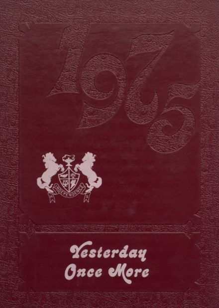 1975 Independence Christian High School Yearbook Cover
