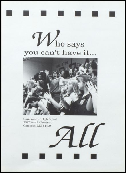 1994 Cameron High School Yearbook Page 5