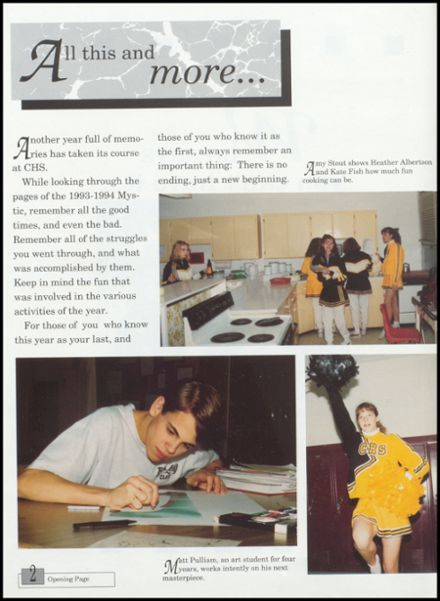1994 Cameron High School Yearbook Page 6
