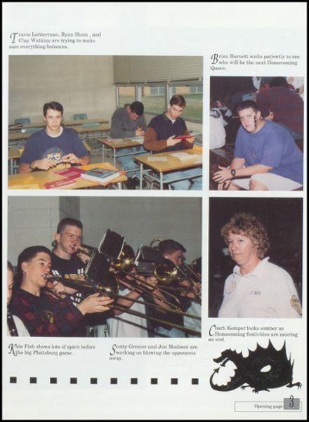 1994 Cameron High School Yearbook Page 7