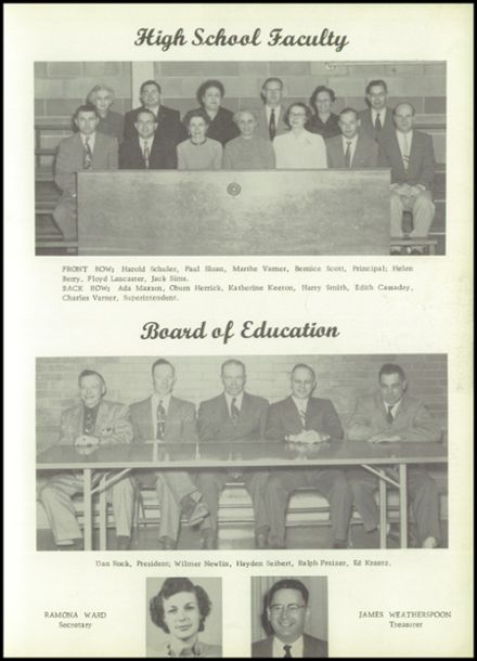 1956 Johnston High School Yearbook Page 9