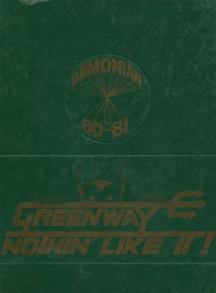 1981 Greenway High School Yearbook Cover
