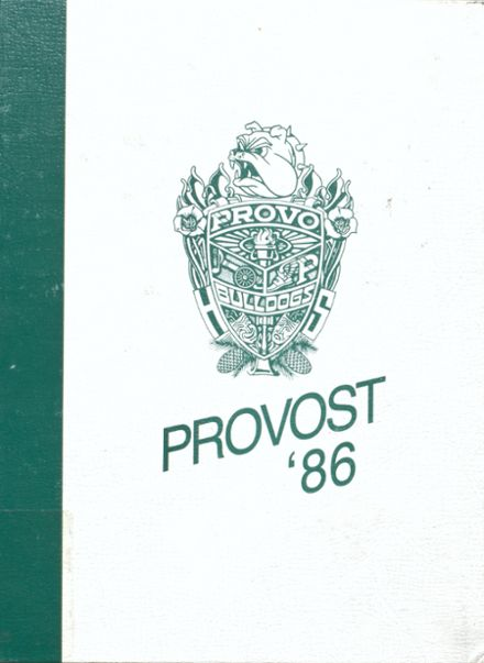 1986 Provo High School Yearbook Cover