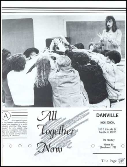 1992 Danville High School Yearbook Page 5