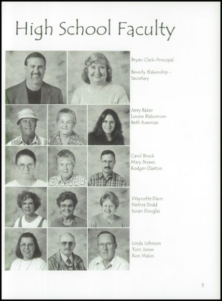 2001 Bland High School Yearbook Page 9