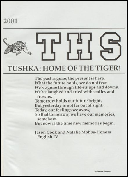 2001 Tushka High School Yearbook Page 5