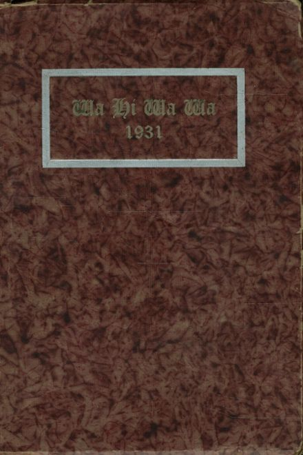 1931 Wapato High School Yearbook Cover