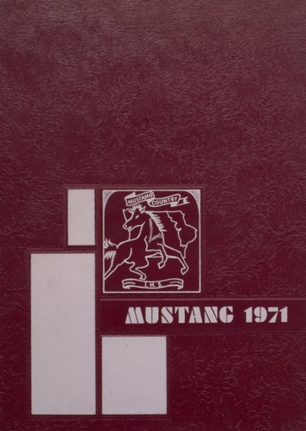 1971 Independence Christian High School Yearbook Cover