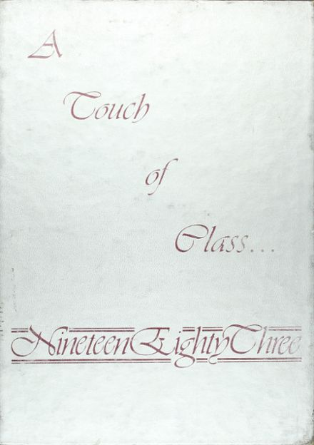 1983 Beebe High School Yearbook Cover