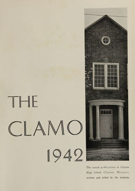 1942 Clayton High School Yearbook Page 5