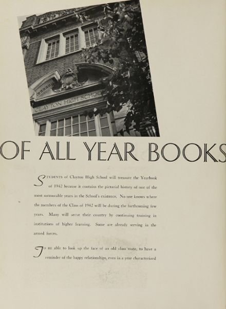 1942 Clayton High School Yearbook Page 6