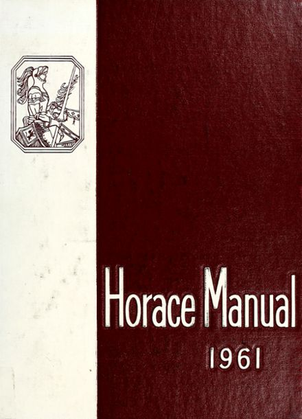 1961 Mann High School Yearbook Cover