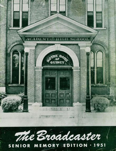 1951 Notre Dame High School Yearbook Cover