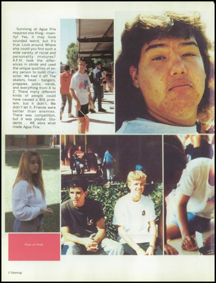 1991 Agua Fria Union High School Yearbook Page 6