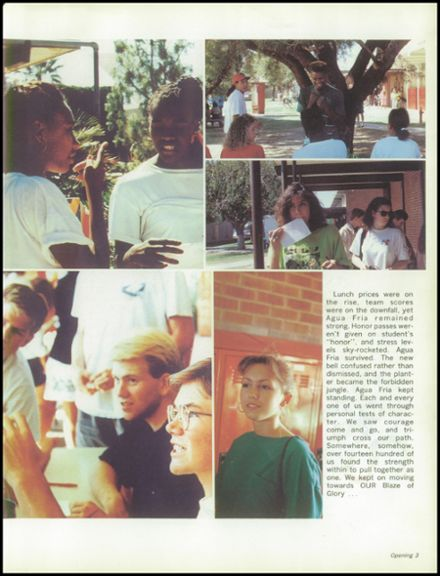 1991 Agua Fria Union High School Yearbook Page 7