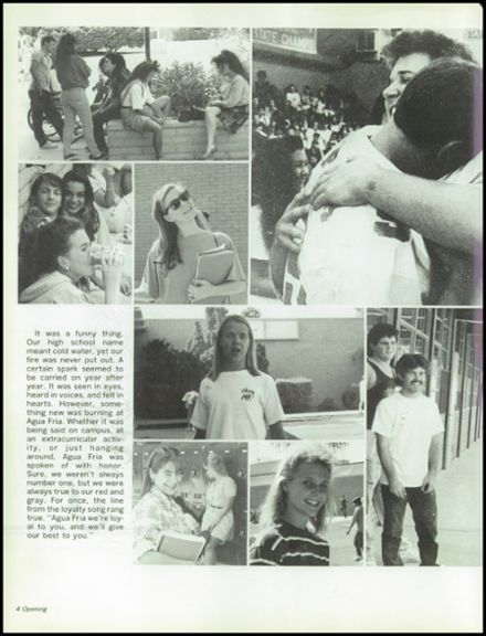 1991 Agua Fria Union High School Yearbook Page 8
