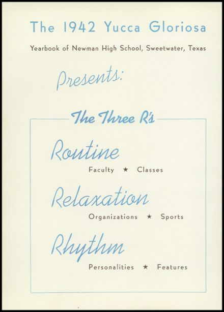 1942 Sweetwater-Newman High School Yearbook Page 6
