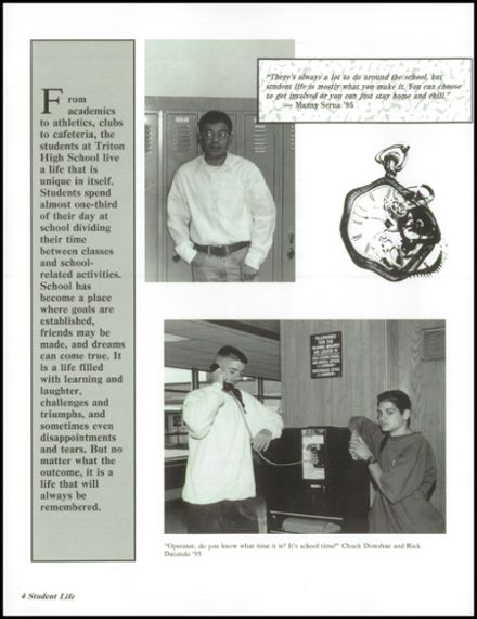 1995 Triton Regional High School Yearbook Page 8