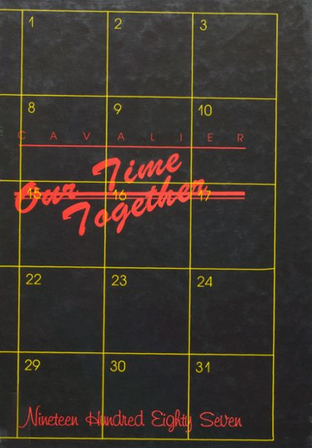 1987 Coldwater High School Yearbook Cover