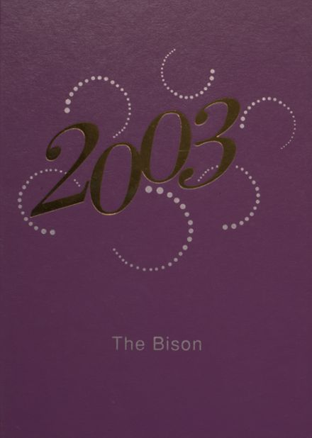 2003 Cross Plains High School Yearbook Cover