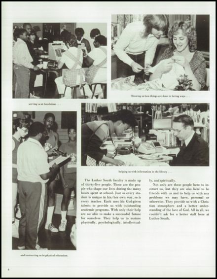 1985 Luther South High School Yearbook Page 8