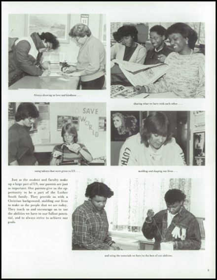 1985 Luther South High School Yearbook Page 9