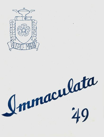 1949 Mary Immaculate High School Yearbook Cover