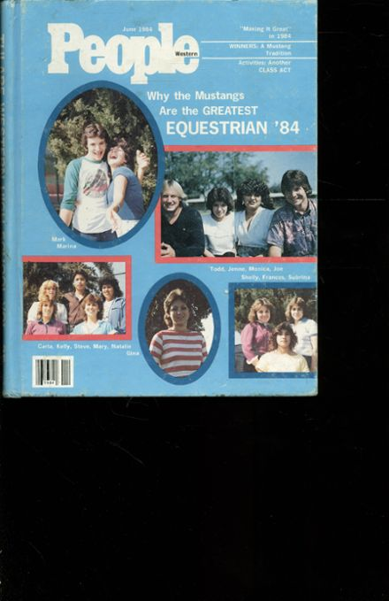 1984 Tulare Western High School Yearbook Cover