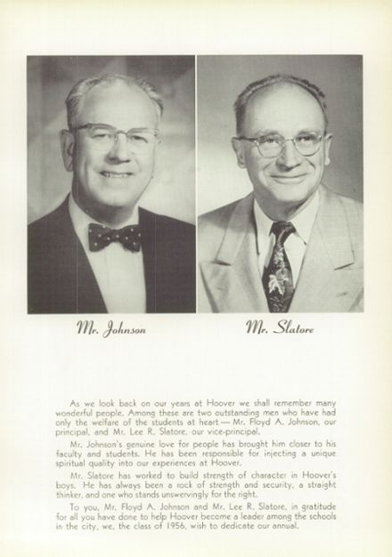 1956 Hoover High School Yearbook Page 9
