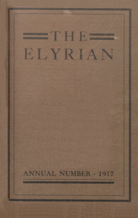 1917 Elyria High School Yearbook Cover