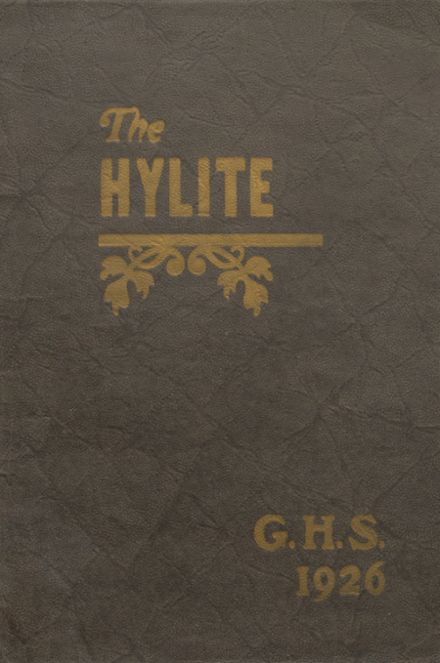 1926 Granton High School Yearbook Cover