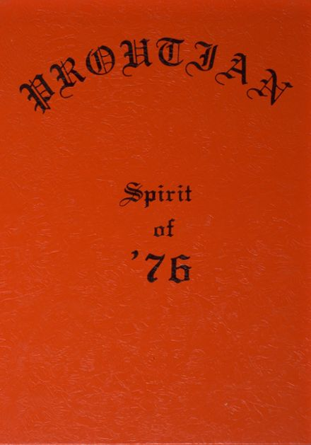 1976 Prouty Regional High School Yearbook Cover