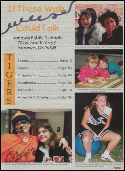 1998 Konawa High School Yearbook Page 5