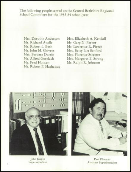 1984 Wahconah Regional High School Yearbook Page 8