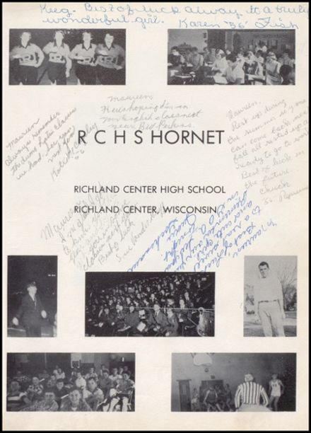 1955 Richland Center High School Yearbook Page 5