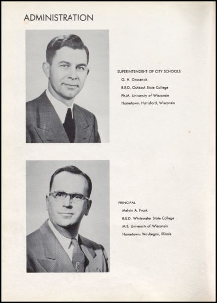 1955 Richland Center High School Yearbook Page 8
